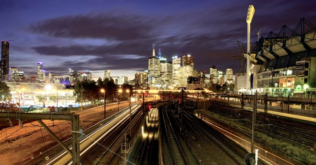 CILT image of Australian Trains at night