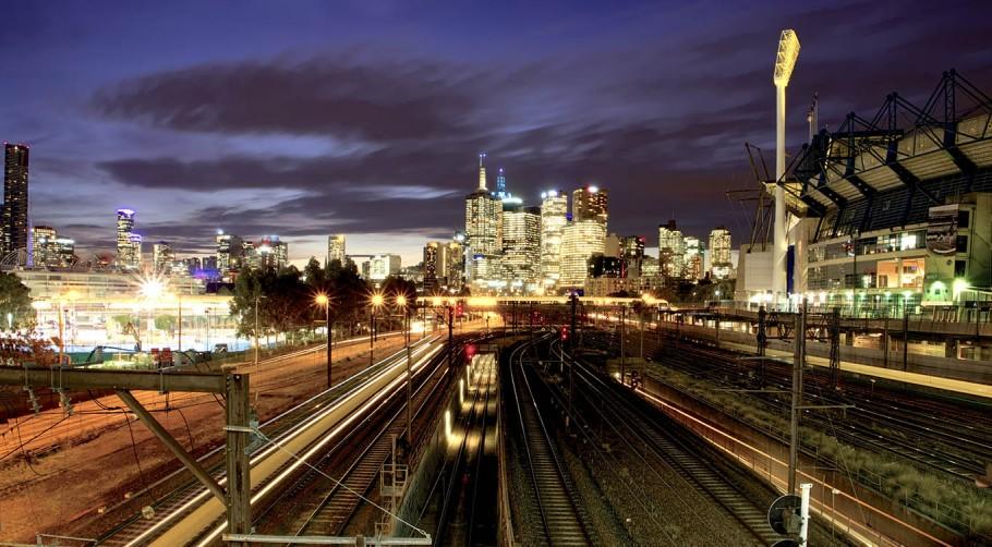 CILT image of Australian Trains at night