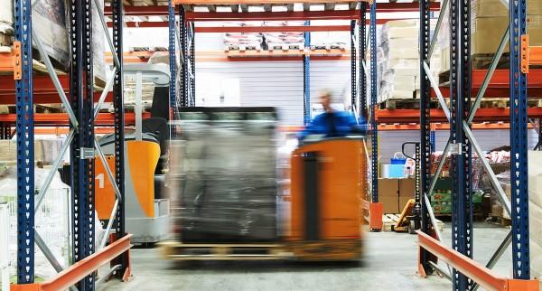 CILT logistics image of fast movinh fork lift