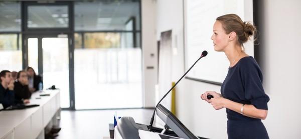 CILT Training provider women speaking at an event