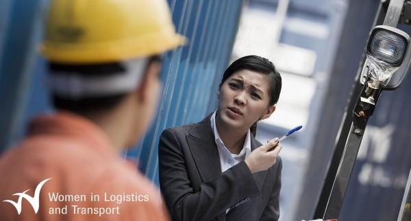 CILT Women in Logistics and Transport - Woman and man talking