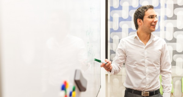 CILT Research and development Preson at a white board