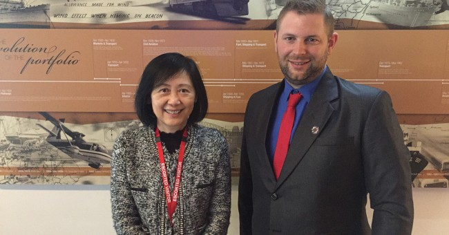 Eiliot with Dorothy Chan of CILT and Young Professionals