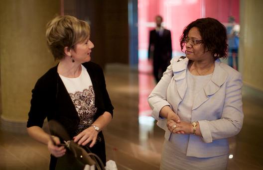 CILT International Convention Dubai 2015 ladies at registration