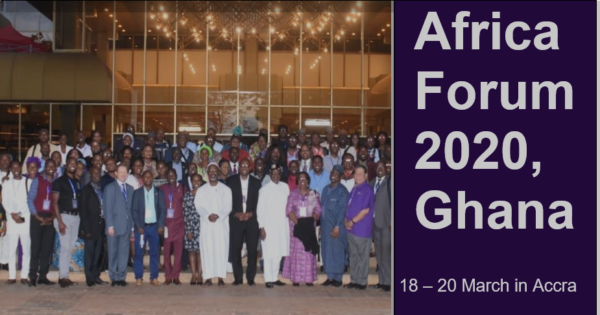 A group photo promoting Africa forum 2020 in Ghana