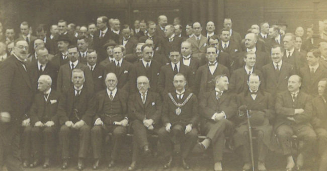 A photo of the organising committee Manchester 1925