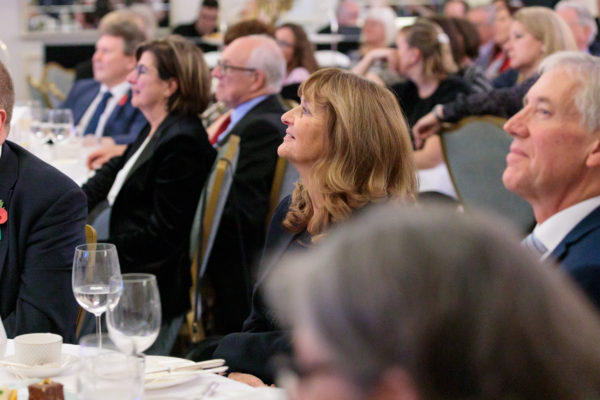 Guests listen to the speeches