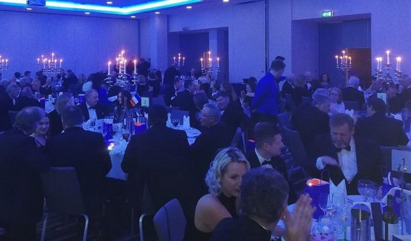 Wide shot of guests at tables during CILT Ireland's centenary celebrations