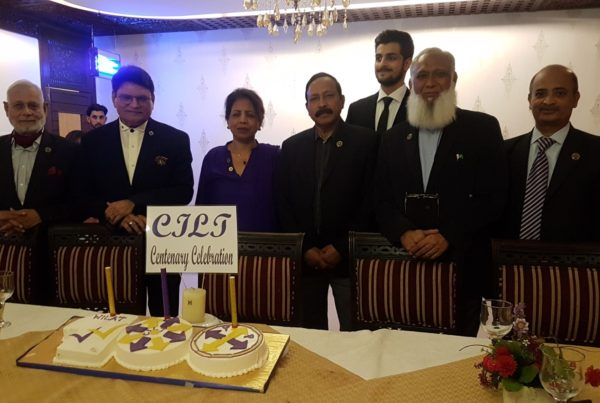 CILT Paksitan members celebrating the CILT centenary together