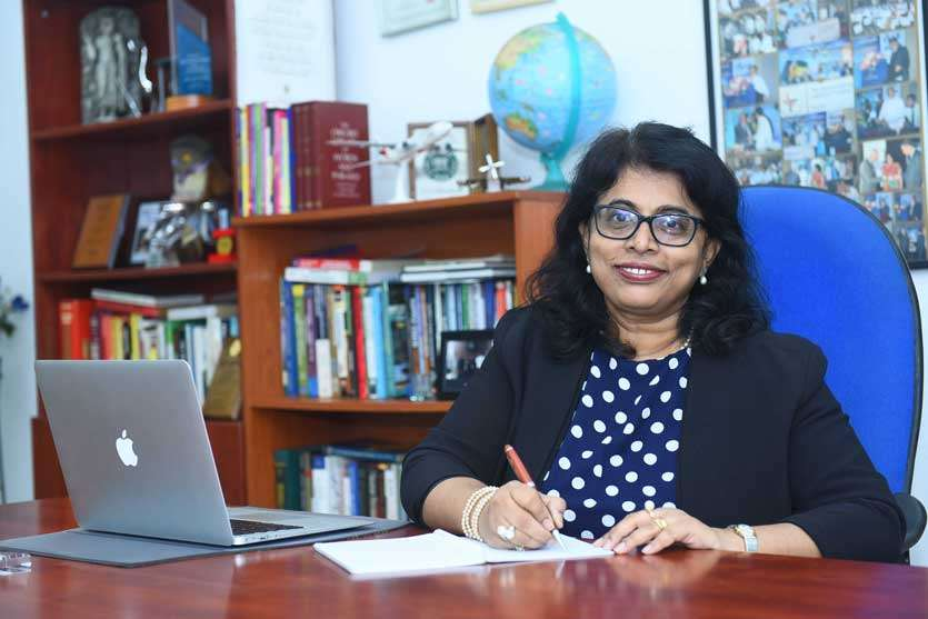 Gayani de Alwis in her office